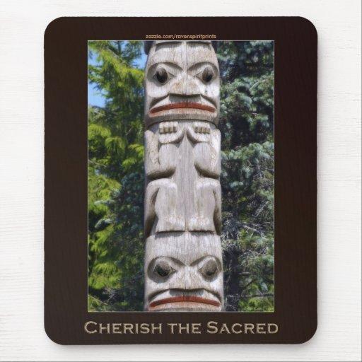 Primer tótem Mousepad de las naciones del Haida
