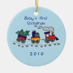 Primer tren de Choo-Choo del navidad del bebé Ornamentos De Reyes