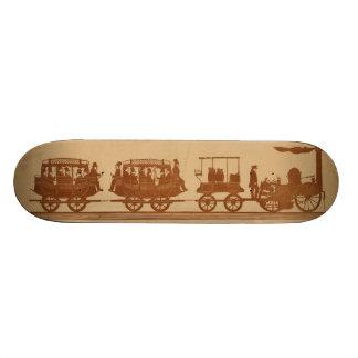 Primer tren de pasajeros del ferrocarril del vapor monopatines personalizados
