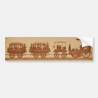 Primer tren de pasajeros del ferrocarril del vapor pegatina para auto