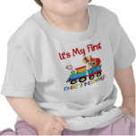 Primer tren del cumpleaños del bebé camisetas