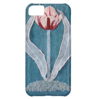 Primer tulipán de los diseños de rubíes de las ala funda para iPhone 5C