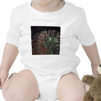 Primer verde de los fuegos artificiales abstractos trajes de bebé