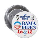 Primer voto para OBAMA/BIDEN en 2012 Demócratas jo Pin