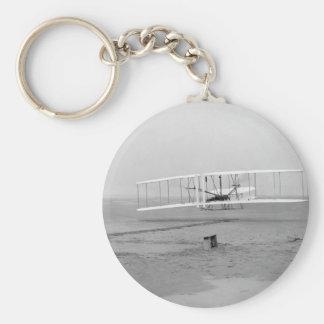 Primer vuelo acertado del aviador de Wright Llavero Redondo Tipo Pin