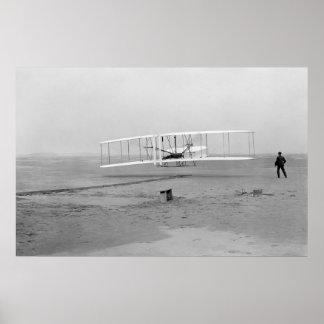 Primer vuelo acertado del aviador de Wright Impresiones