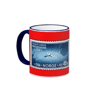 Primer vuelo de Mar del Norte de NORUEGA Taza De Dos Colores
