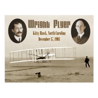 Primer vuelo del aviador 1903 de Wright Tarjetas Postales