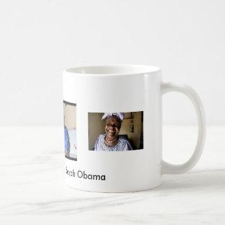 Primera abuela Sarah Obama…. Una qué sonrisa Taza De Café