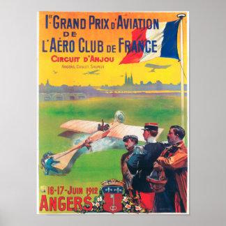 Primera aviación Grand Prix Poster