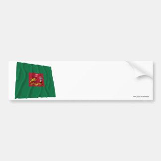 Primera bandera de los rifles de Pennsylvania Pegatina De Parachoque