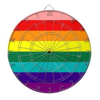 Primera bandera del orgullo del arco iris tabla dardos