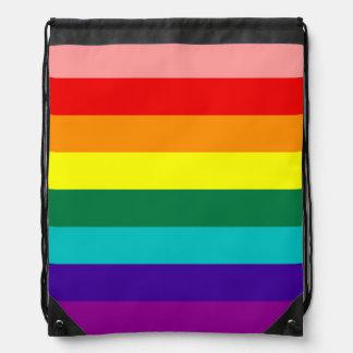 Primera bandera del orgullo del arco iris mochila