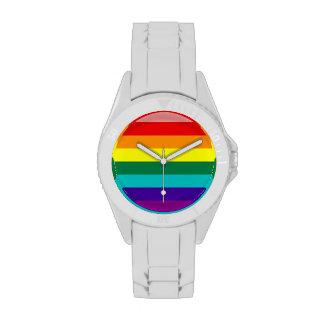 Primera bandera del orgullo del arco iris relojes de mano
