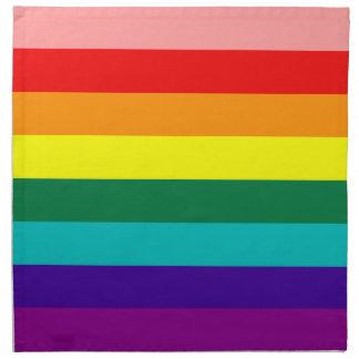 Primera bandera del orgullo del arco iris servilleta imprimida