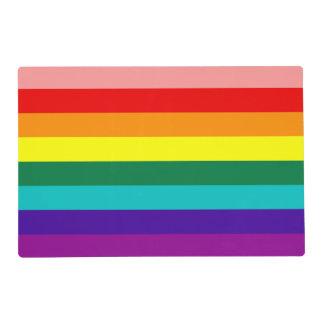 Primera bandera del orgullo del arco iris tapete individual