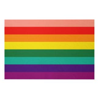 Primera bandera del orgullo del arco iris cuadros de madera
