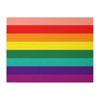 Primera bandera del orgullo del arco iris cuadro de madera
