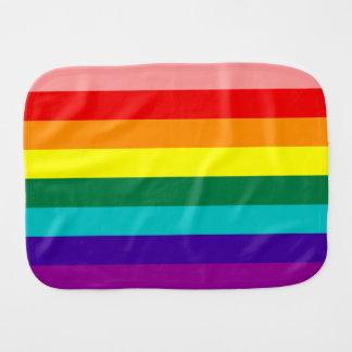 Primera bandera del orgullo del arco iris paños para bebé