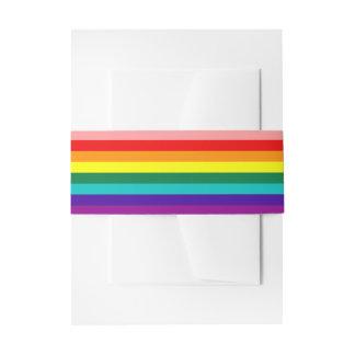 Primera bandera del orgullo del arco iris lazos para invitaciones de boda