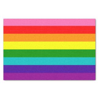 Primera bandera original del arco iris del orgullo papel de seda pequeño