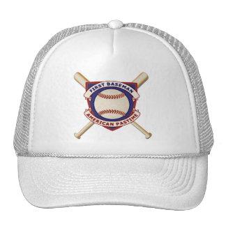Primera base, pasatiempo americano gorros bordados
