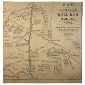 Primera batalla de la ORIGINAL del mapa de la guer Servilletas Imprimidas