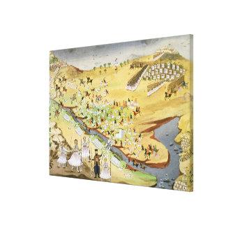 Primera batalla entre los Griegos y los turcos, en Impresión En Lienzo Estirada