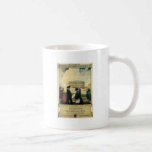 Primera C.C. de Washington de la Casa Blanca Taza De Café