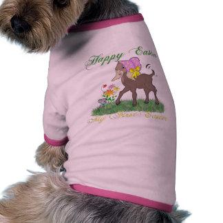 Primera cabra feliz de Pascua Camiseta Con Mangas Para Perro