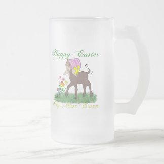 Primera cabra feliz de Pascua Taza De Cristal