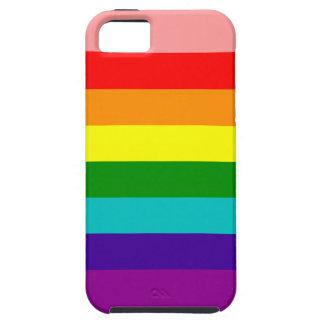 Primera caja de la bandera del orgullo del arco ir iPhone 5 cárcasa