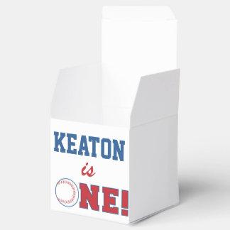 Primera caja del favor del cumpleaños del béisbol cajas para regalos de boda