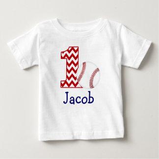 Primera camisa del cumpleaños del béisbol