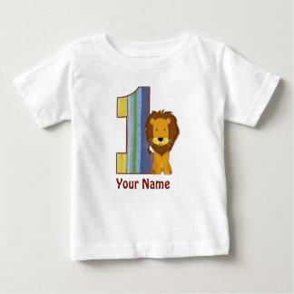 Primera camisa del león del cumpleaños del bebé