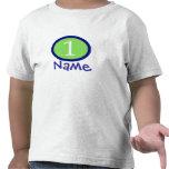 Primera camisa personalizada bebé del cumpleaños