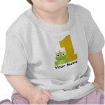 Primera camisa personalizada del cumpleaños de la