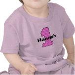 Primera camisa rayada rosada del chica del cumplea