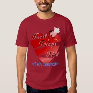 Primera camiseta de las tarjetas del día de San Playeras