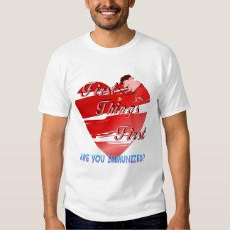 Primera camiseta de las tarjetas del día de San Polera