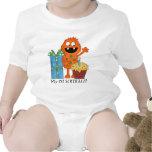 Primera camiseta del bebé del monstruo del cumplea