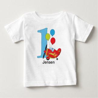 Primera camiseta del cumpleaños del aeroplano remeras