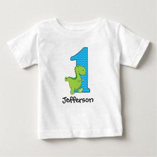 Primera camiseta del cumpleaños del dinosaurio