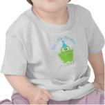 Primera camiseta del cumpleaños del pequeño monstr