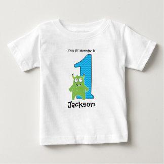 Primera camiseta del cumpleaños del pequeño poleras