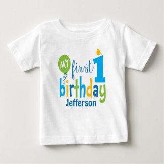 Primera camiseta del cumpleaños personalizada