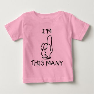 Primera camiseta del cumpleaños playera
