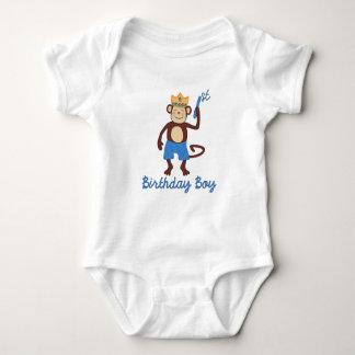 Primera camiseta del muchacho del mono del playeras