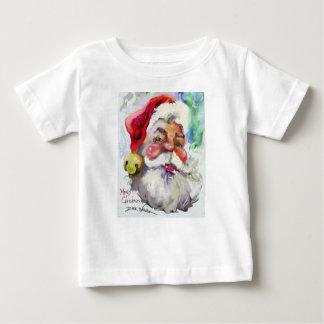 Primera camiseta del navidad de los bebés con las