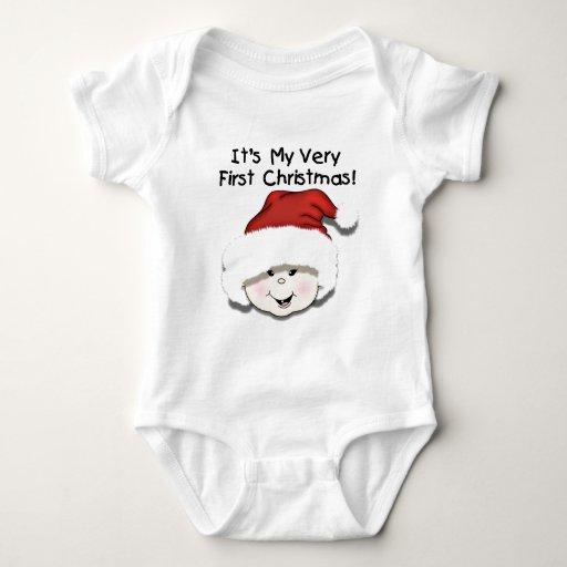 Primera camiseta del navidad del bebé asiático playeras
